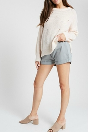 Wishlist Holed-Up Distressed Sweater - Product Mini Image