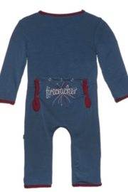 Kickee Pants Holiday Applique Coverall - Front cropped