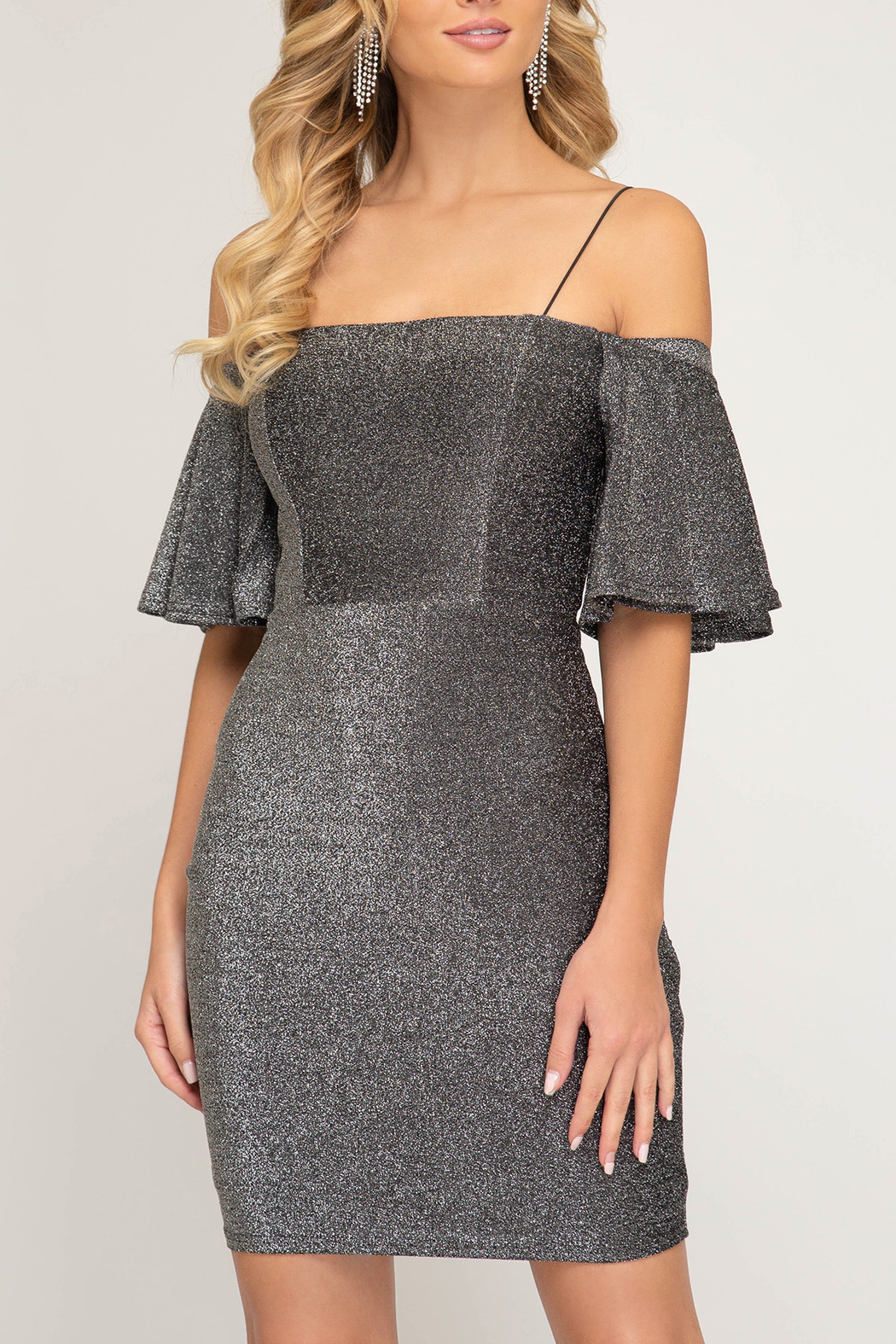 She + Sky Holiday Babe dress - Front Cropped Image