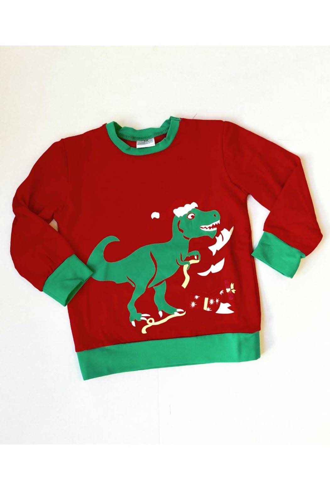 HONEYDEW Holiday Dino Sweatshirt - Main Image
