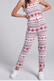 blue blush Holiday Jumpsuit - Front full body