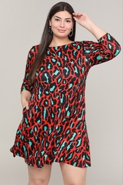 Yelete Holiday Leopard Dress - Front cropped