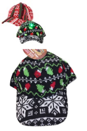Uncle Bob's Holiday Light Up Baseball Cap - Front cropped