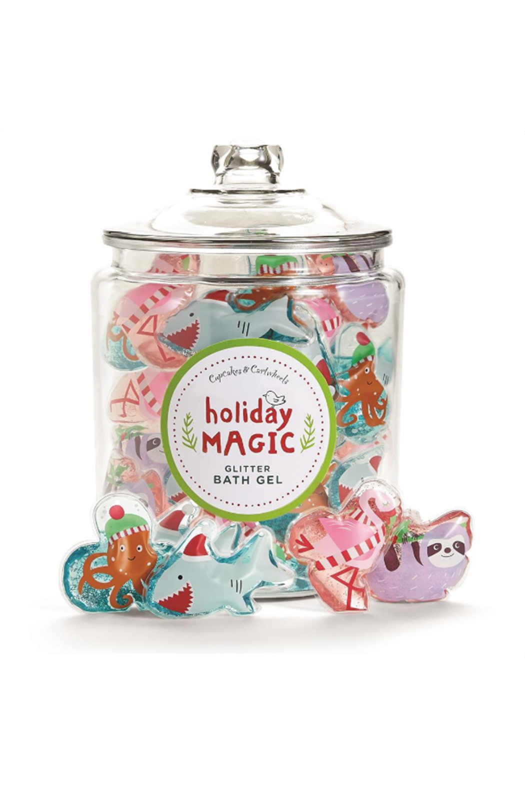 Cupcake and Cartwheels Holiday Magic Glitter Bath Gel - Front Cropped Image