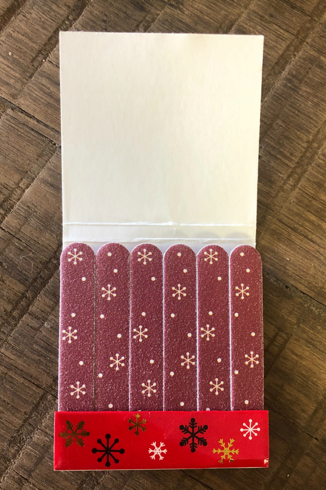 Gift Craft Holiday Nail Files - Front Full Image