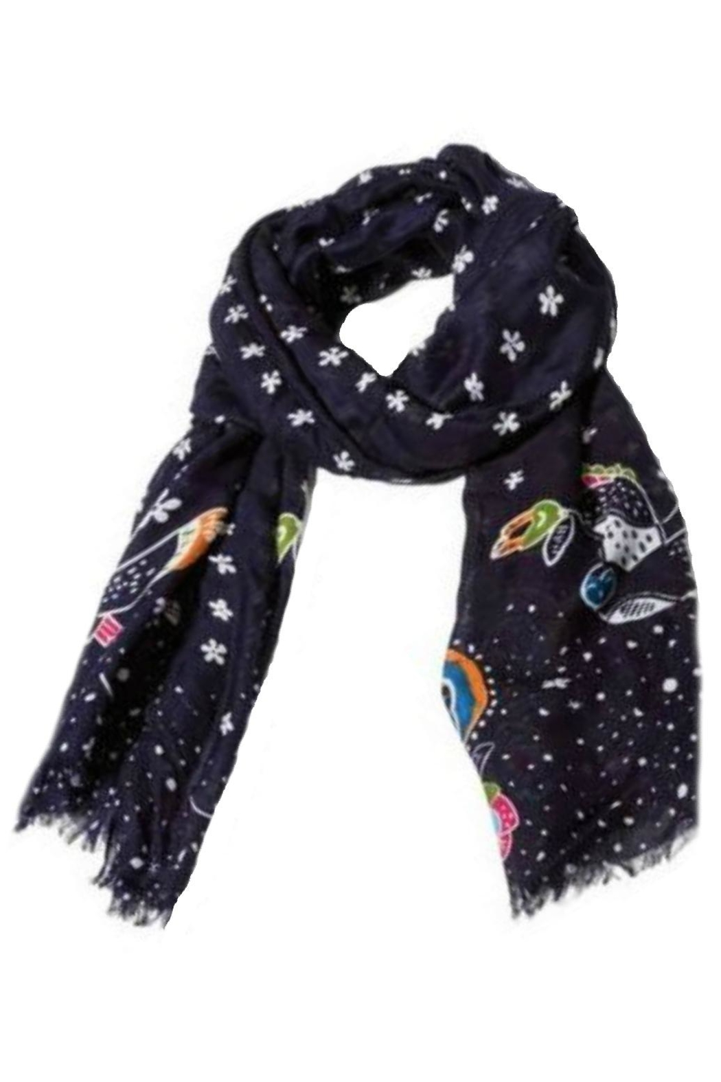 Vera Bradley Holiday Owls Scarf - Front Full Image