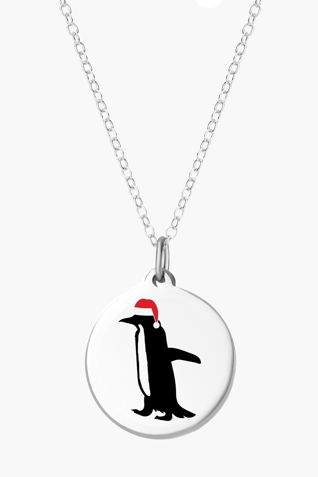 Auburn Jewelry Holiday Penguin Silver Pendant - Front Cropped Image