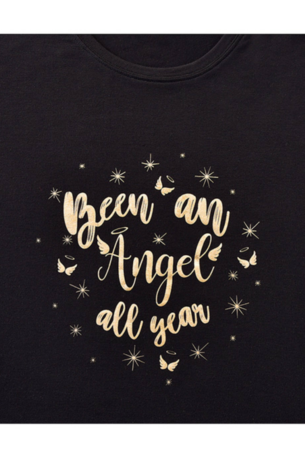 Giftcraft Inc.  Holiday Sentiment Sleep Shirt - Front Full Image