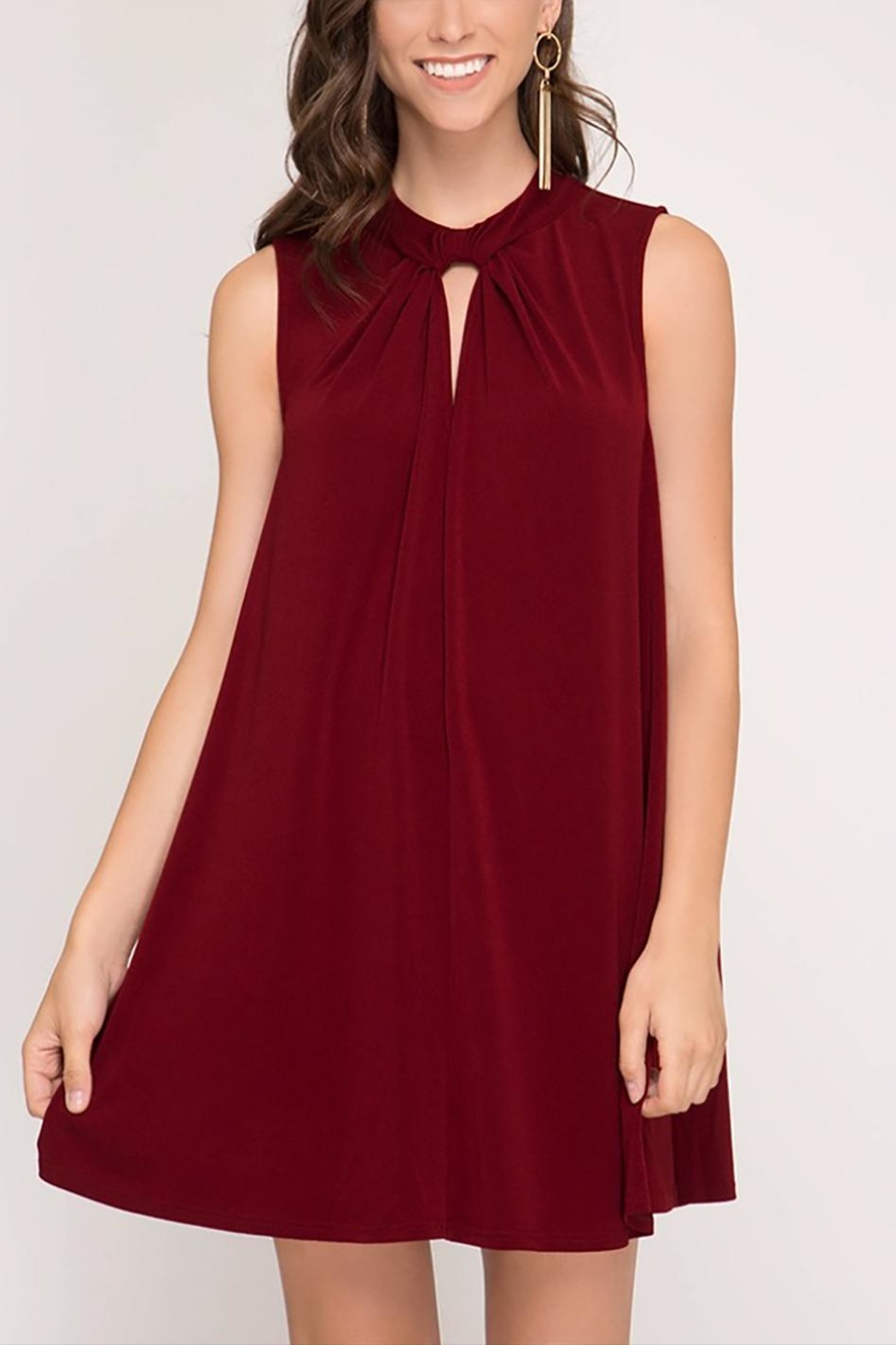 She + Sky Holiday Swing Dress - Main Image