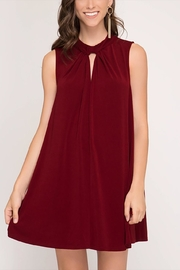 She + Sky Holiday Swing Dress - Front cropped