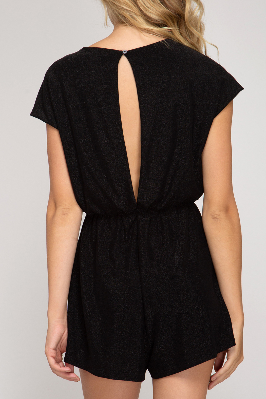 She and Sky Holiday Treats Romper - Front Full Image