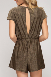 She and Sky Holiday Treats Romper - Front full body
