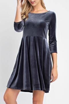 12pm by Mon Ami Holiday Velour Dress - Product List Image