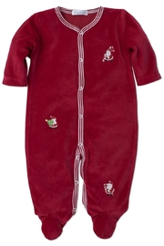 Kissy Kissy Holiday Velour Footie - Front cropped