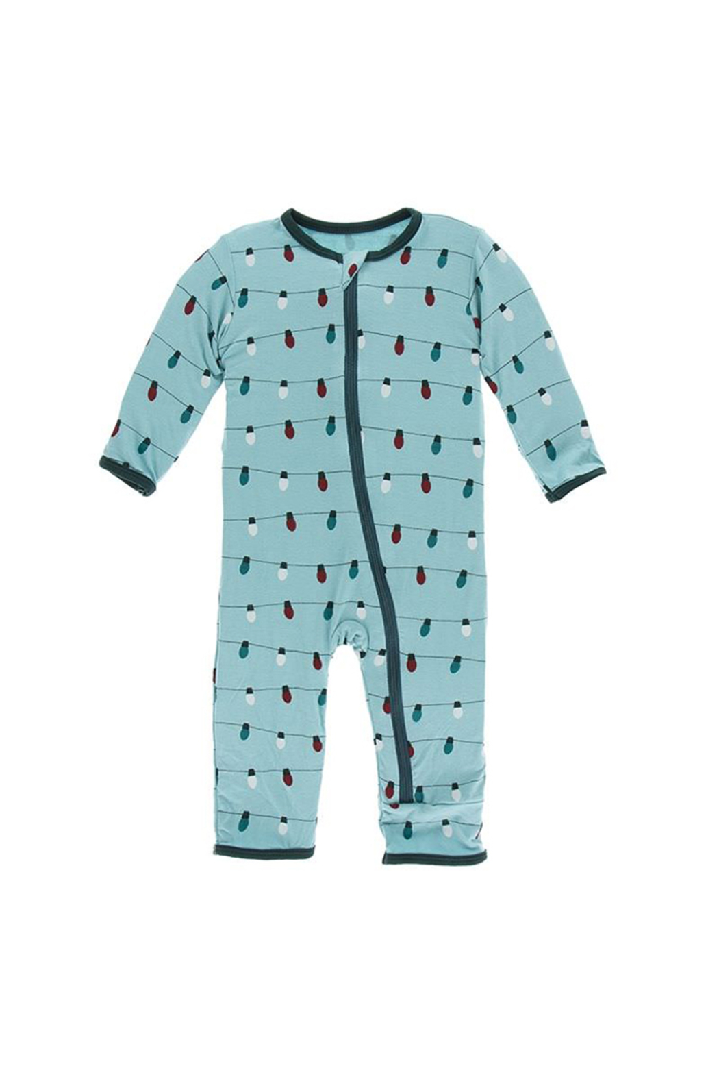Kickee Pants Holiday Zipper Footie - Front Cropped Image