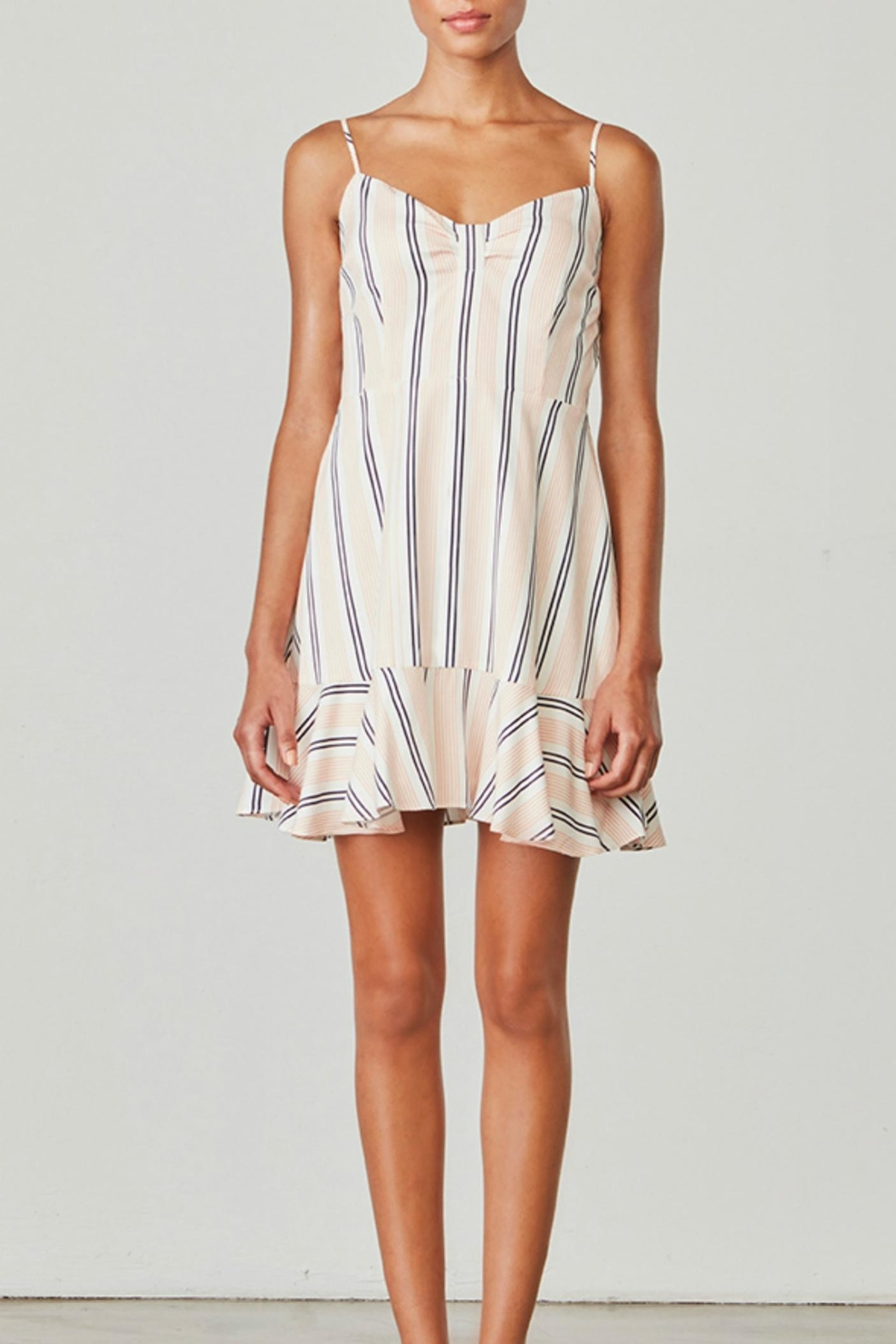 BB Dakota Hollie Striped Dress - Front Cropped Image