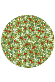 Caspari Holly and Mistletoe Die-Cut Placemat - Front cropped