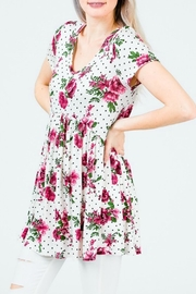 Red Lolly Holly Babydoll Top - Front full body