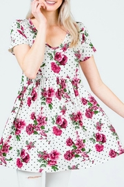 Red Lolly Holly Babydoll Top - Side cropped