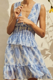 Saylor Holly Blue Dress - Product Mini Image