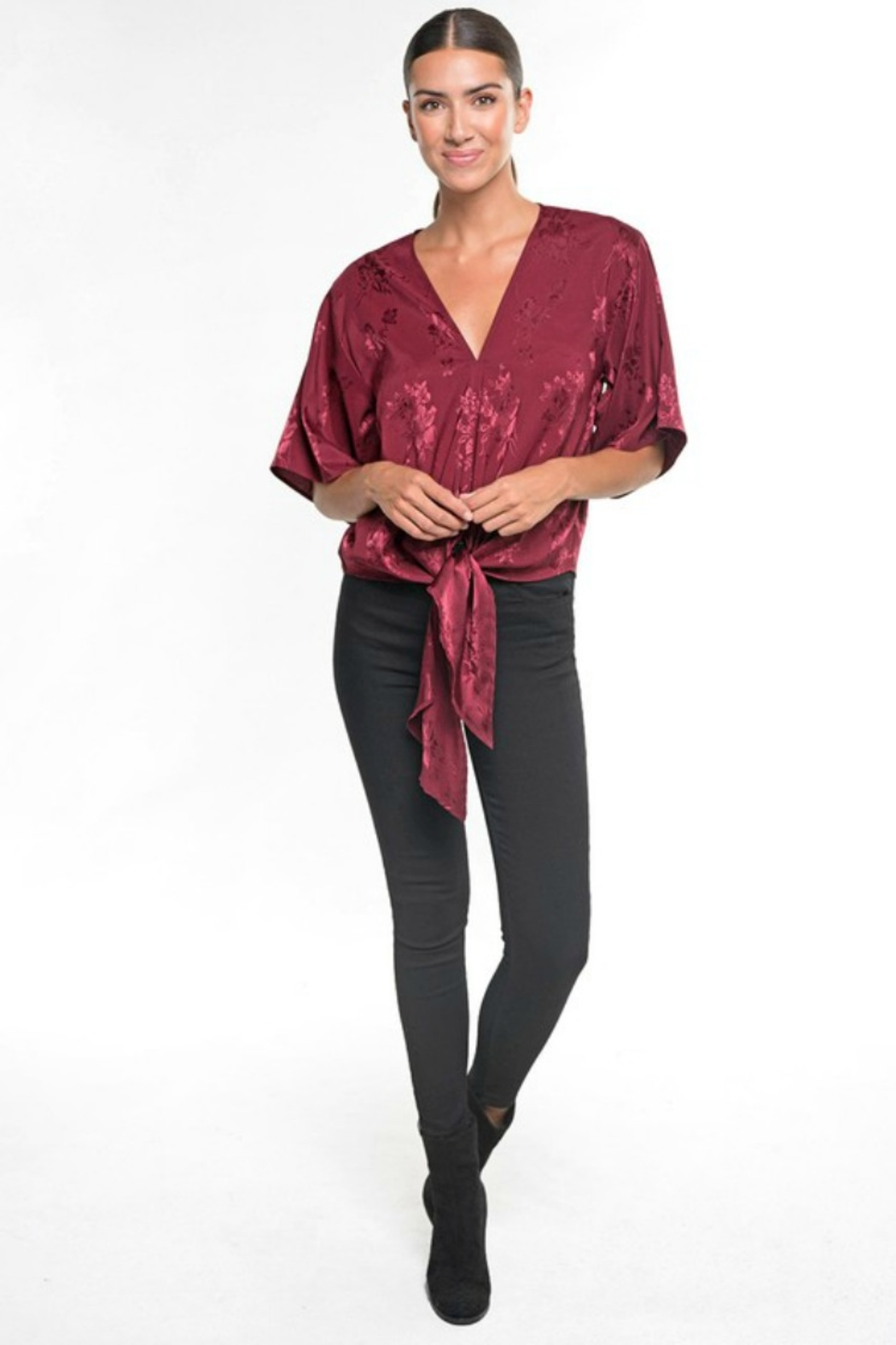 Lovestitch HOLLY DAYZ BLOUSE - Front Cropped Image