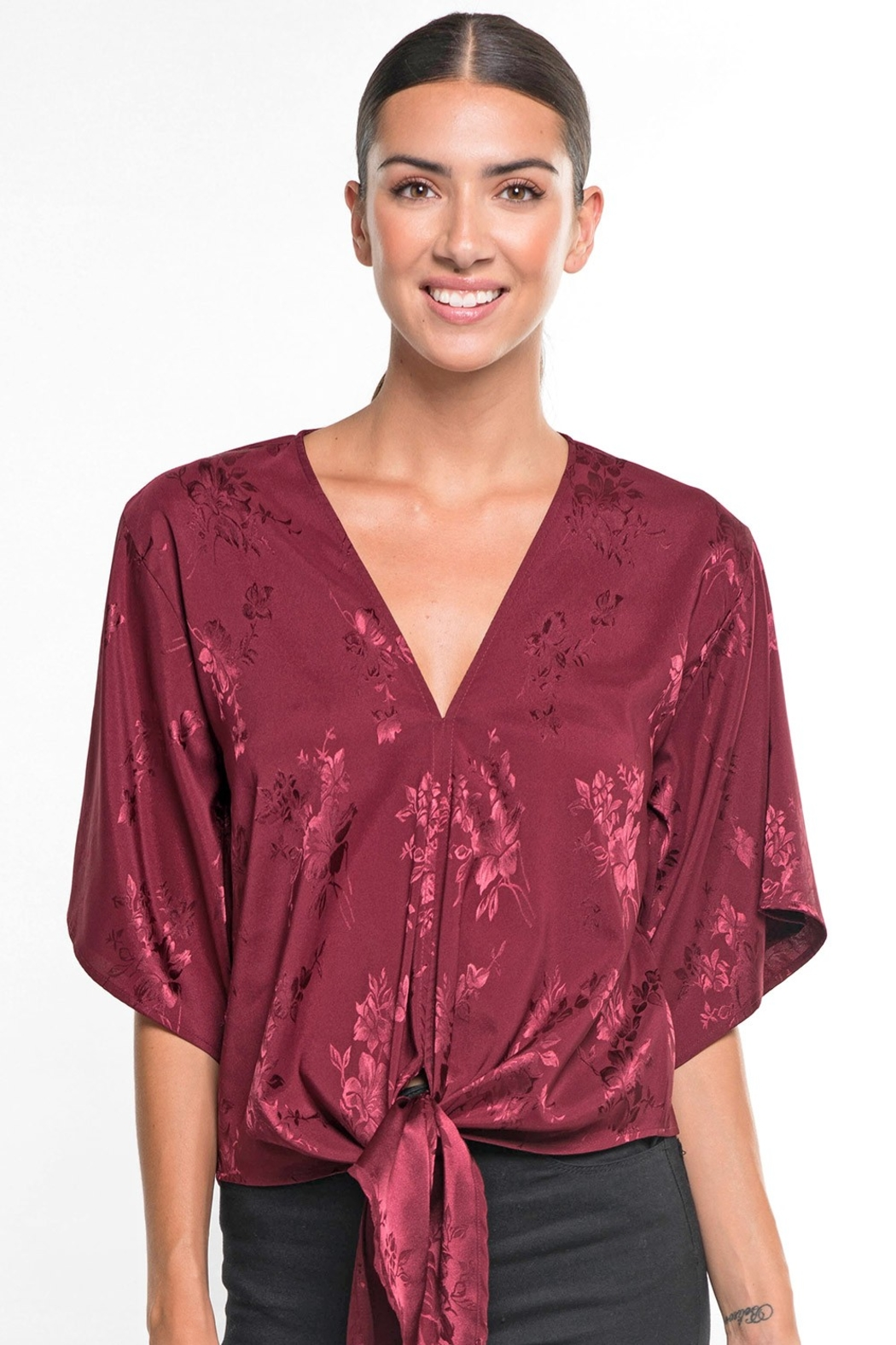 Lovestitch HOLLY DAYZ BLOUSE - Front Full Image