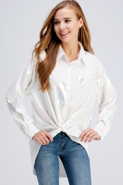 Hot & Delicious Hologram Button Down - Product Mini Image