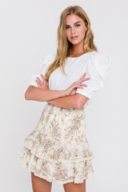 La Ven Holt Puff Sleeve Top - Product Mini Image
