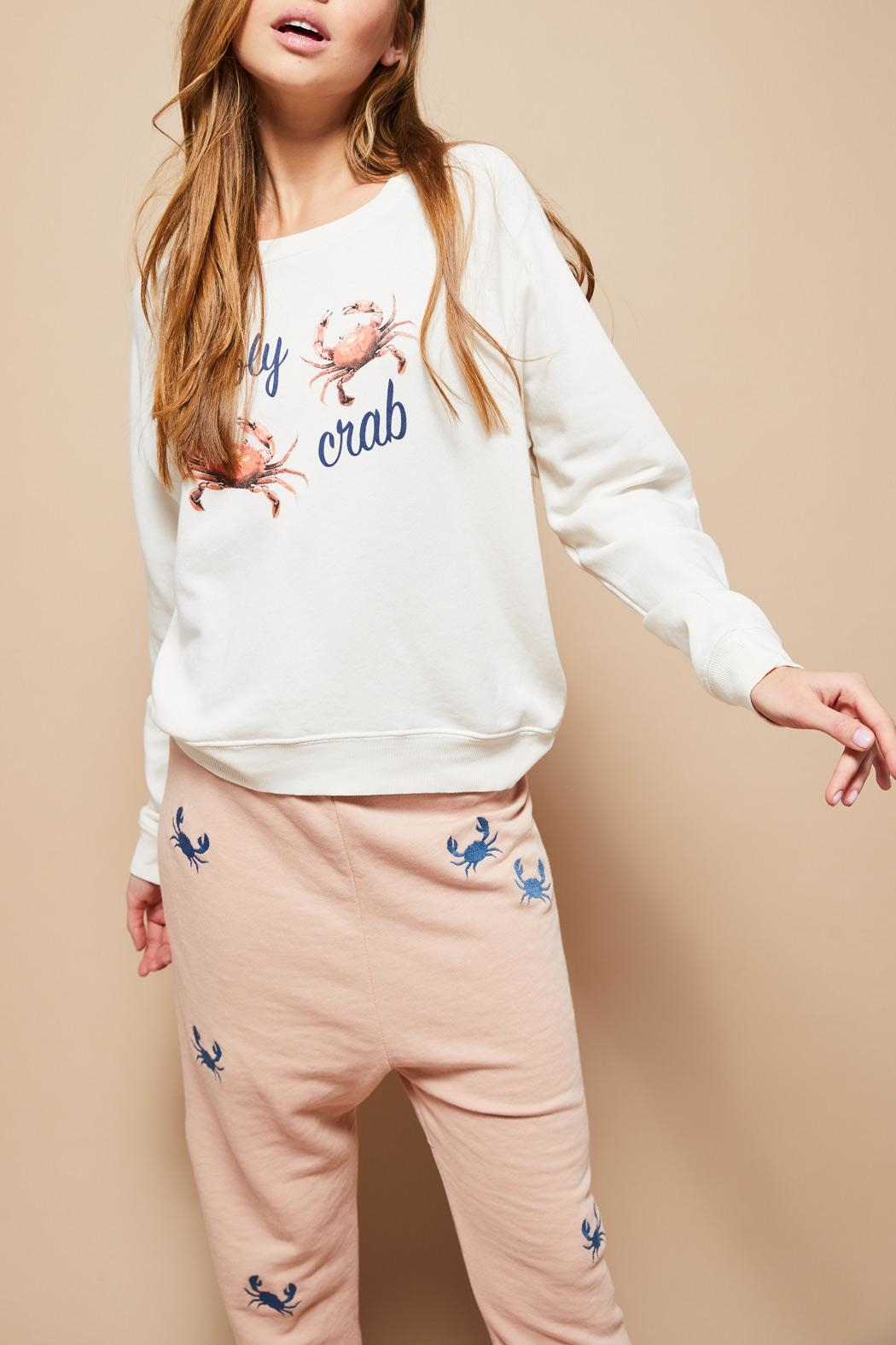 All Things Fabulous Holy Crab Sweatshirt - Side Cropped Image