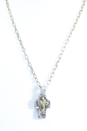 The Birds Nest HOLY FAMILY CROSS NECKLACE - 9 INCH CHAIN - Product Mini Image