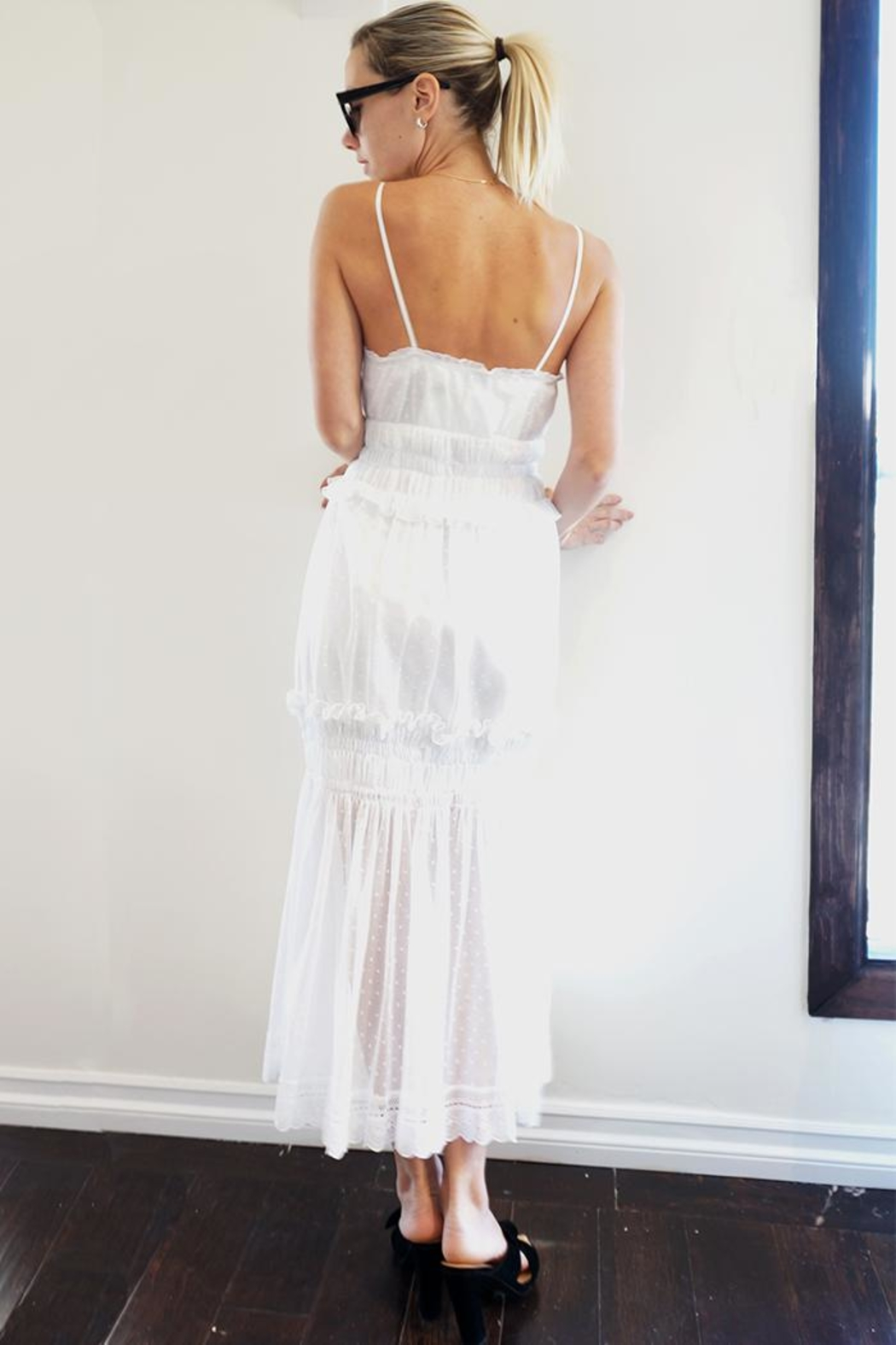 Holy Caftan Tulle Maxi Dress - Front Full Image