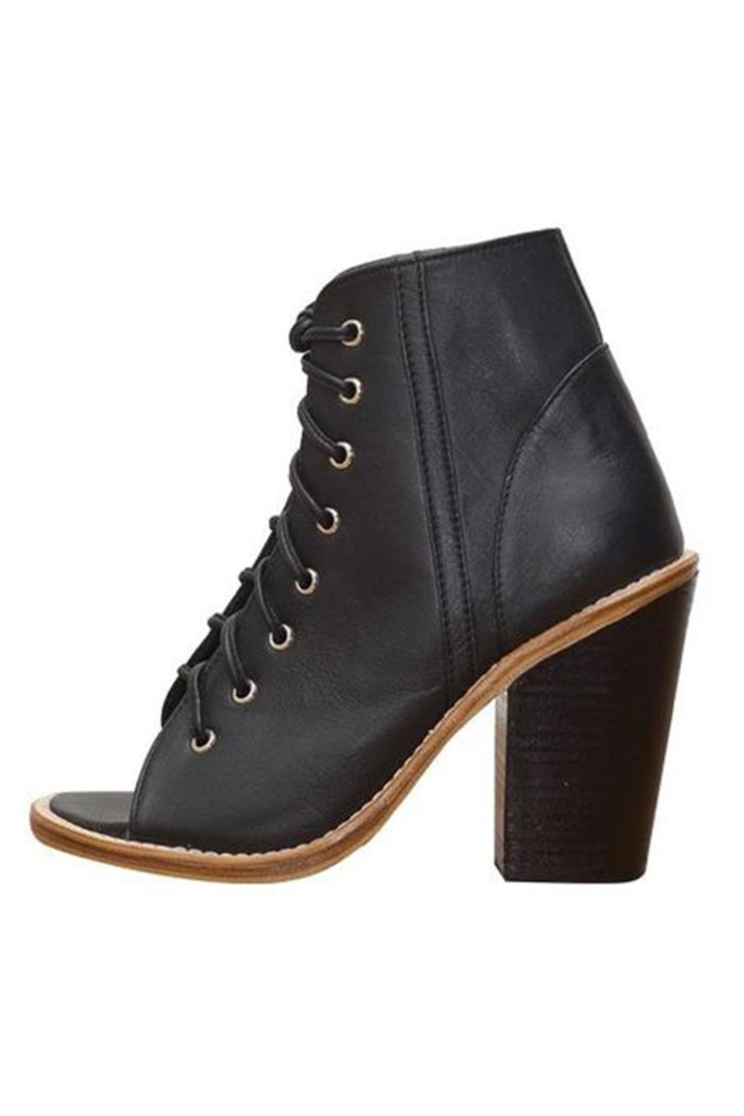 Holystone Laced-Up Leather Heels - Main Image