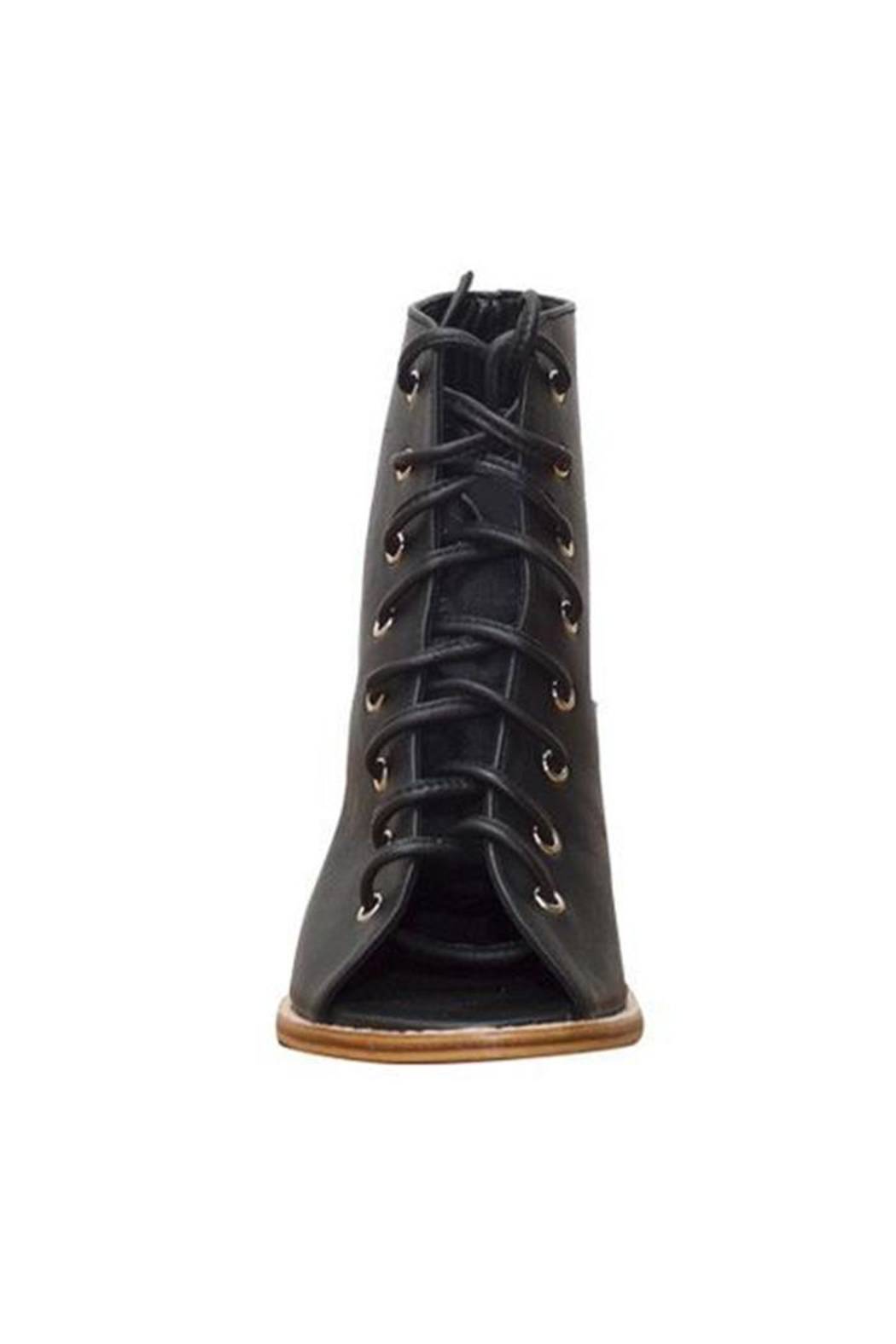 Holystone Laced-Up Leather Heels - Front Cropped Image