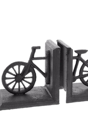 Homart Bicycle Cast Iron Bookends - Front cropped