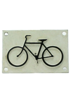 Shoptiques Product: Cast Iron Bicycle Sign