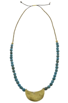 Shoptiques Product: Teal Brass Necklace
