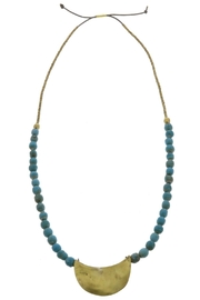 Homart Teal Brass Necklace - Product Mini Image