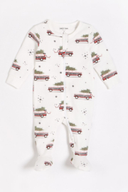 Petit Lem Home for the Holidays Footie - Front cropped