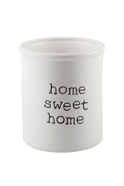 Home Essentials Home-Sweet-Home Utensil Crock - Front cropped