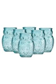 Home Essentials Blue Owl Shot-Glasses - Front cropped