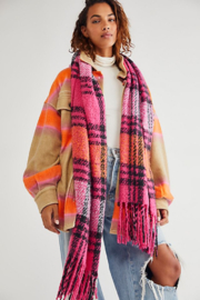 Free People  Homecoming Plaid Blanket - Front cropped