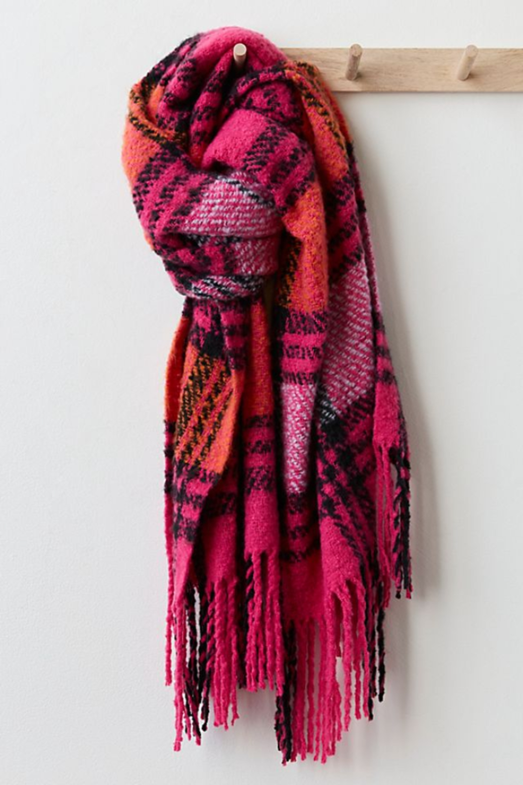 Free People  Homecoming Plaid Blanket - Front Full Image