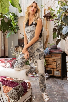 Pol Clothing Hometown Camo Overalls - Product List Image