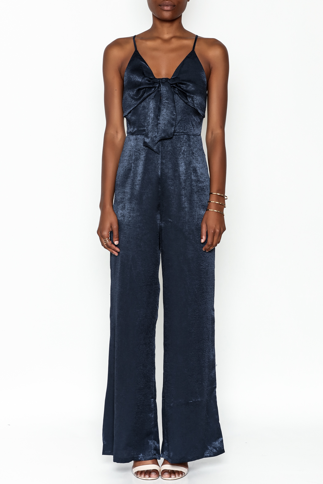 Hommage Bow Front Jumpsuit - Front Full Image