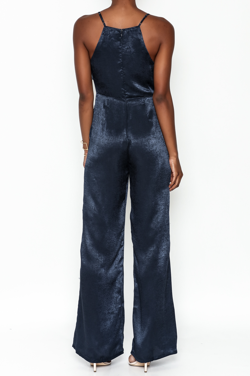 Hommage Bow Front Jumpsuit - Back Cropped Image