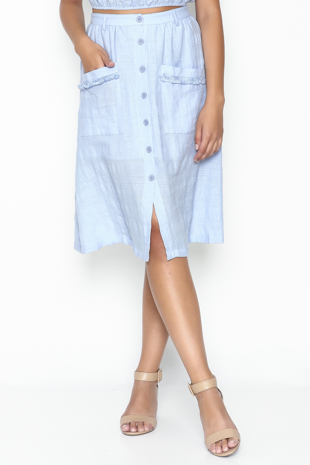 Hommage Button Down Skirt - Main Image