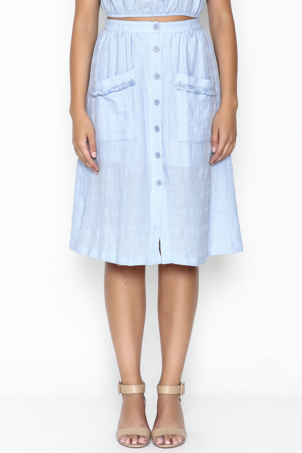 Hommage Button Down Skirt - Front Full Image