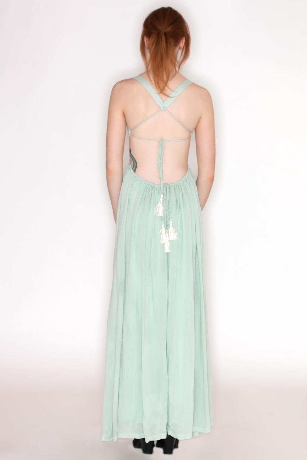 Hommage Crochet Top Maxi - Side Cropped Image