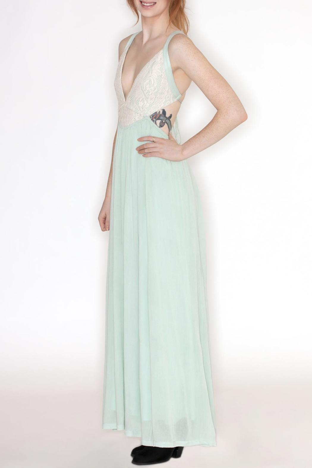 Hommage Crochet Top Maxi - Front Full Image
