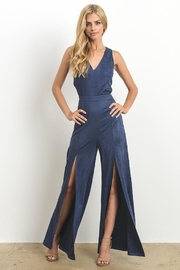 Hommage Faux Suede Jumpsuit - Side cropped
